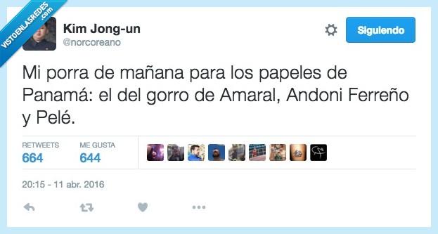 Amaral,Andoni Ferreño,gorro,incriminados,mañana,panama,panama papers,papeles,pele,porra,robar