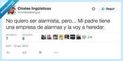 Enlace a No quiero ser alarmista pero... por @chistesdelengua