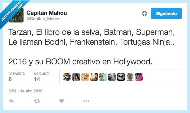 batman,Frankenstein,le llaman bodhi,libro de la selva,superman,Tarzán,tortugas ninja