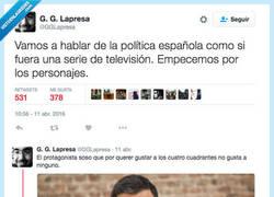 Enlace a La política española en versión serie
