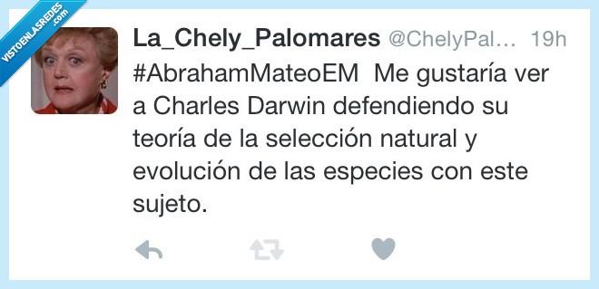 Abraham Mateo,Charles Darwin,especies,evolucion,explicar,natural,selección,sujeto
