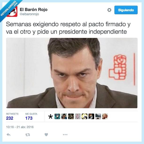 Albert rivera,Ciudadanos,exigir,firmado,independiente,pacto,pedir,Pedro Sanchez,presidente,psoe,respeto,semana
