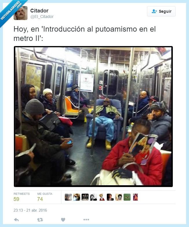 Amo,butaca,El Citador,maximum confort,Metro,sentado,silla,Sillón