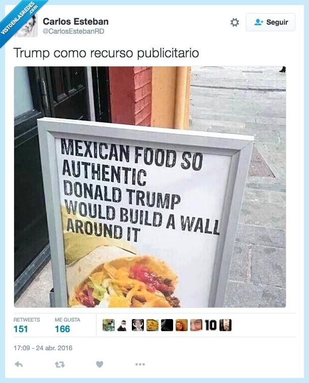 comida,Donald Trump,frontera,mexicana,mexico,muro,restaurante