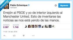 Enlace a Se rumorea que Errejón se va al PSOE por @pnique