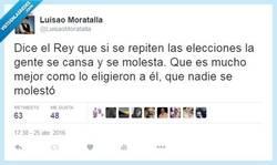Enlace a El Rey no molesta a nadie, hombre por @LuisaoMoratalla