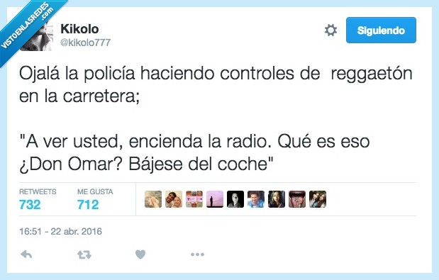 carretera,control,don omar,música,policia,radio,reggaeton