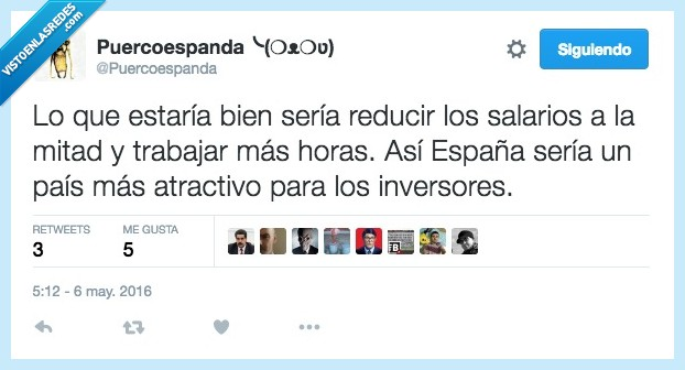 atractivo,crisis,España,inversores,más horas,mitad,país,reducir,salarios,trabajar