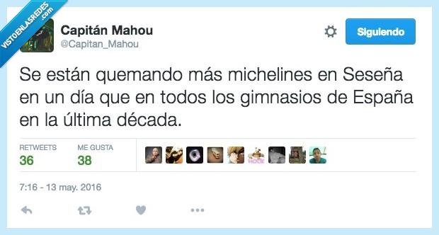 década,España,gimnasio,michelin,neumatico