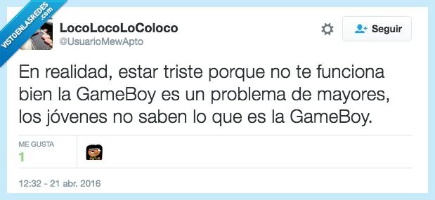 boy,funciona,game,game boy,gameboy,jovenes,jugar,mayores,problema,realidad
