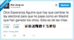 Enlace a Lo de Esperanza Aguirre parece broma, pero no por @norcoreano