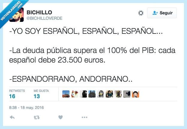 100%,Andorra,andorrano,debe,deber,deuda,España,español,pib,publica