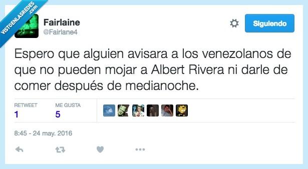 Albert Rivera,alguien,avisar,comer,después,espero,medianoche,venezolano,Venezuela