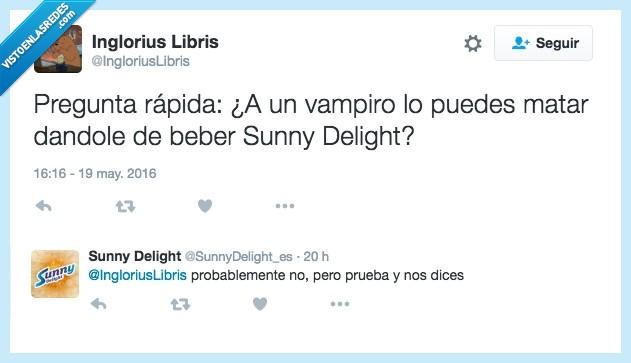 sol,sunny delight,twitter,vampiro