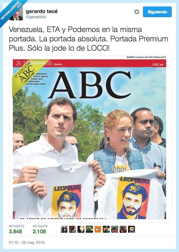 abc,Albert Rivera,combo,ETA,Podemos,portada,premium,Venezuela,victimas