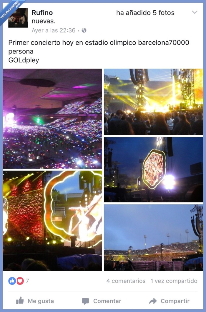 coldplay,fan,gold pley
