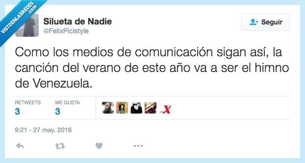 cancion,comunicación,medios,pesados,Venezuela,verano
