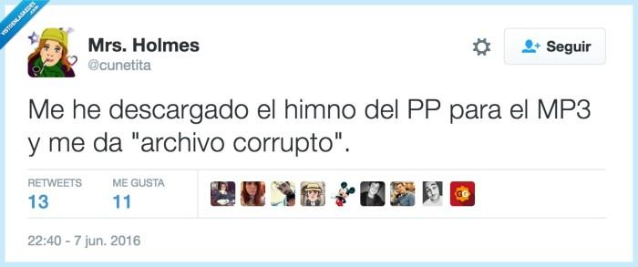 campaña,canción,chiste,españa,gracioso,himno,humor,latino,pp,twitter