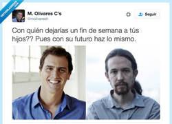 Enlace a El ridículo tuit de un concejal de Ciudadanos sobre Albert Rivera y Pablo Iglesias