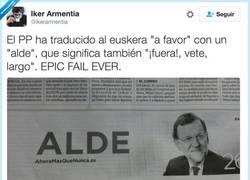 Enlace a Alde Rajoy, por @ikerarmentia