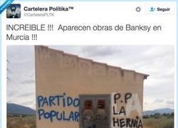 Enlace a Bansky anda suelto en Murcia, por @CarteleraPLTK