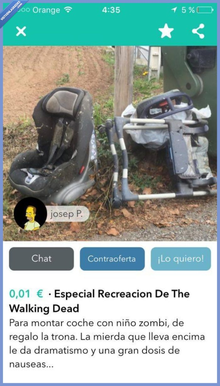 carrito,ruina,The Walking Dead,wallapop