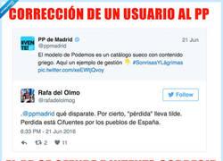 Enlace a La lección de ortografía fallida del PP de Madrid en Twitter