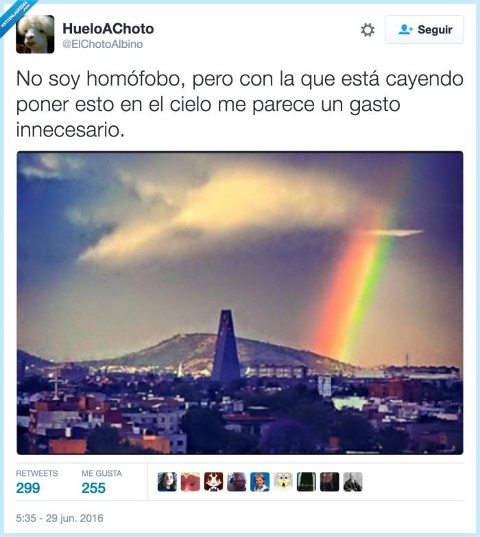 arcoíris,bandera gay,cielo,gastos