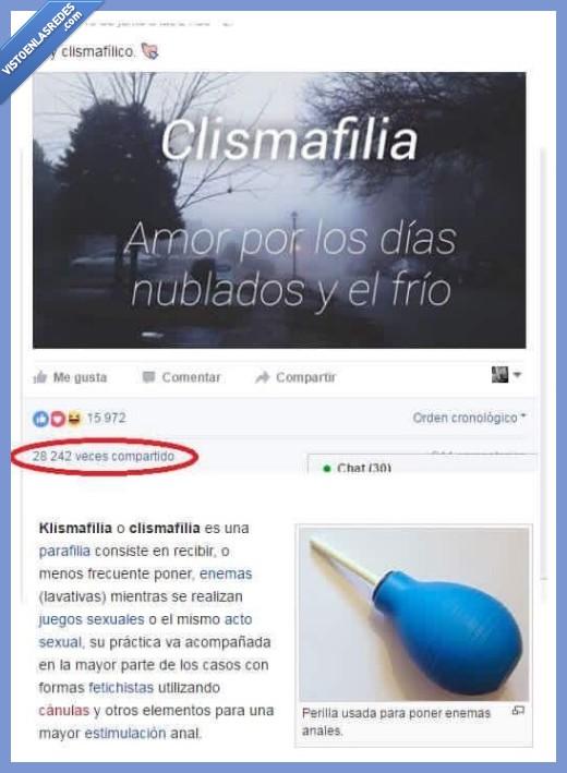 clismafilia,estafa,likes,postureo,shares,timo