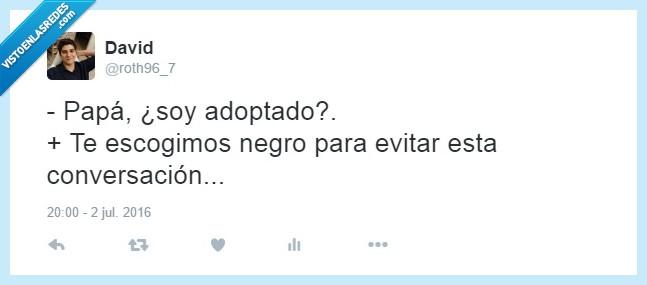 adoptado,humor negro,negro,niño