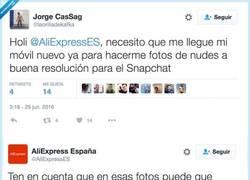 Enlace a La respuesta de Aliexpress a este tweet es sencillamente ESPECTACULAR