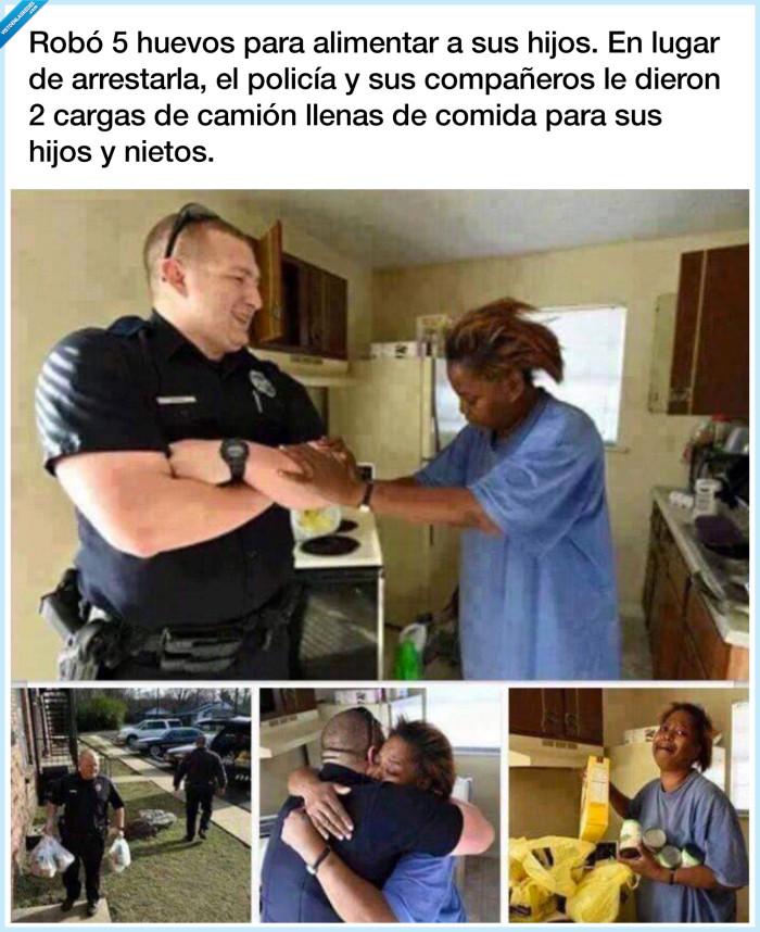 comida,hijos,mujer,policía,robar