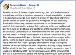 Enlace a Chica deja su trabajo en Subway tras la miserable queja de su jefe