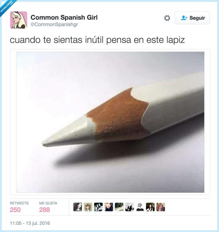 color,inútil,lápiz blanco