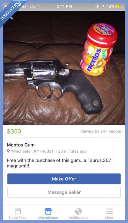 arma,mentos,regalo