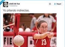 Enlace a Yo pillando indirectas, por @olaladefua