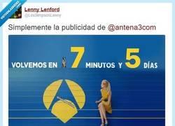 Enlace a La publicidad en Antena 3, por @LosSimpsonLenny