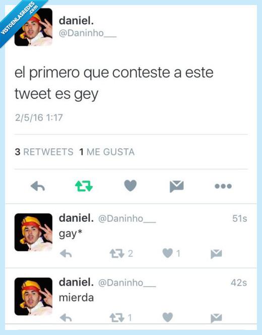 contestar,fail,gay,gey,tweet