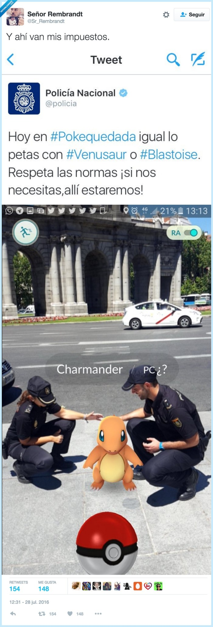 graciosos,pokémon go,policia