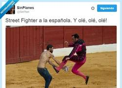 Enlace a Street Fighter a la española, por @SinPlan