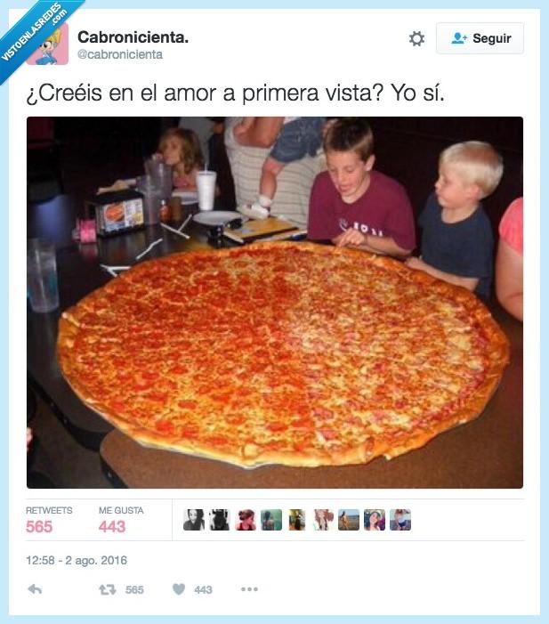 amor,pizza,primera vista