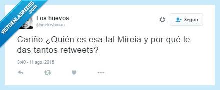 Celos,Mireia Belmonte,pareja,retweet,Tweet,twitter