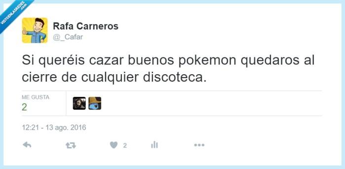 Cafar,cazar,discoteca,pokemon