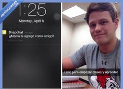 Enlace a Cuando tu madre empieza a seguirte en Snapchat