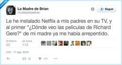 Enlace a Los peligros de Netflix, por @LaMadredeBrian