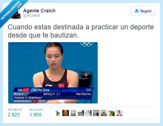 cha phu zhon,chapuzon,china,jjoo,juegos olimpicos,nadadora,olimpiadas