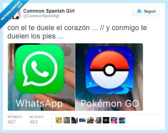 amor,app,corazón,duele el corazón,enrique iglesias,pies,pokemon go,whatsapp