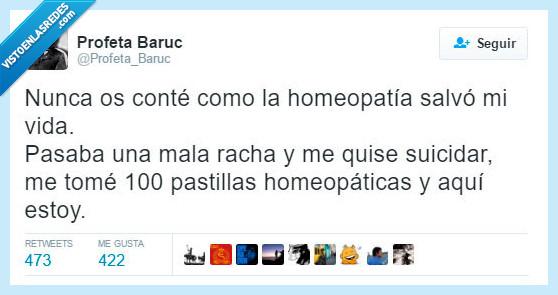 100,homeopatia,mala racha,pastillas,salvar,triste,vida