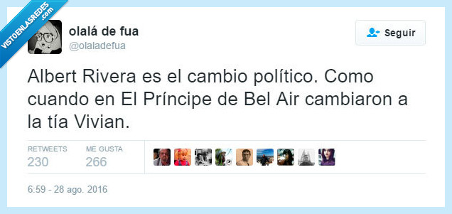 Albert Rivera,Bel Air,cambio,politico,Principe,tia,vivian