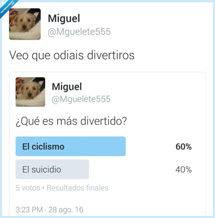 ciclismo,divertido,suicidarse,suicidio
